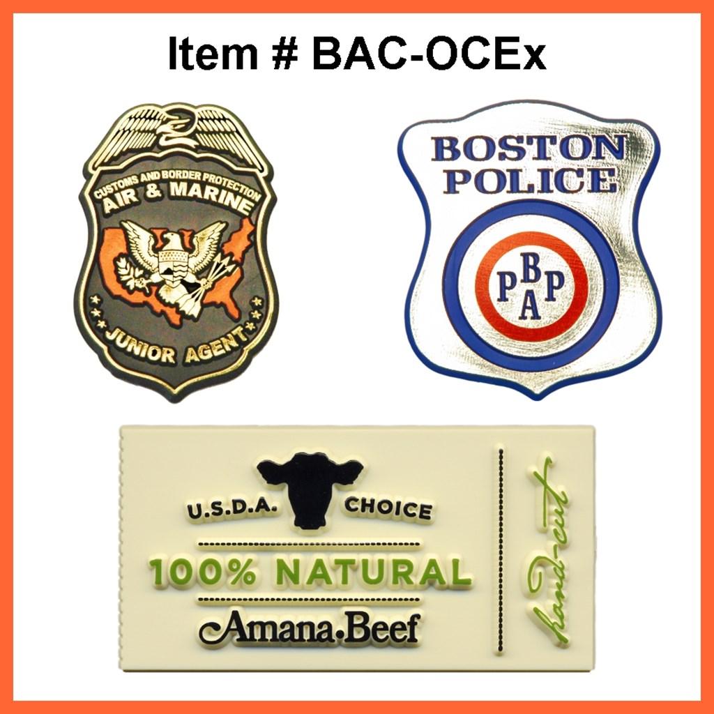 Badges - Custom   Berlekamp Plastic-Ad Line   Since 1929