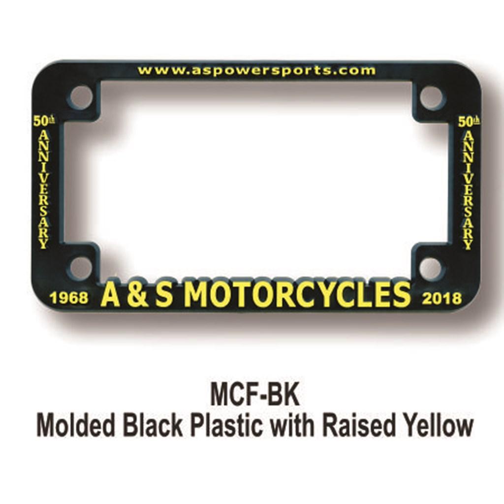 Motorcycle License Plate Frames   Berlekamp Plastic-Ad Line   Since 1929